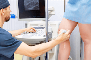 Patient being screened by a vein doctor in Visalia, CA